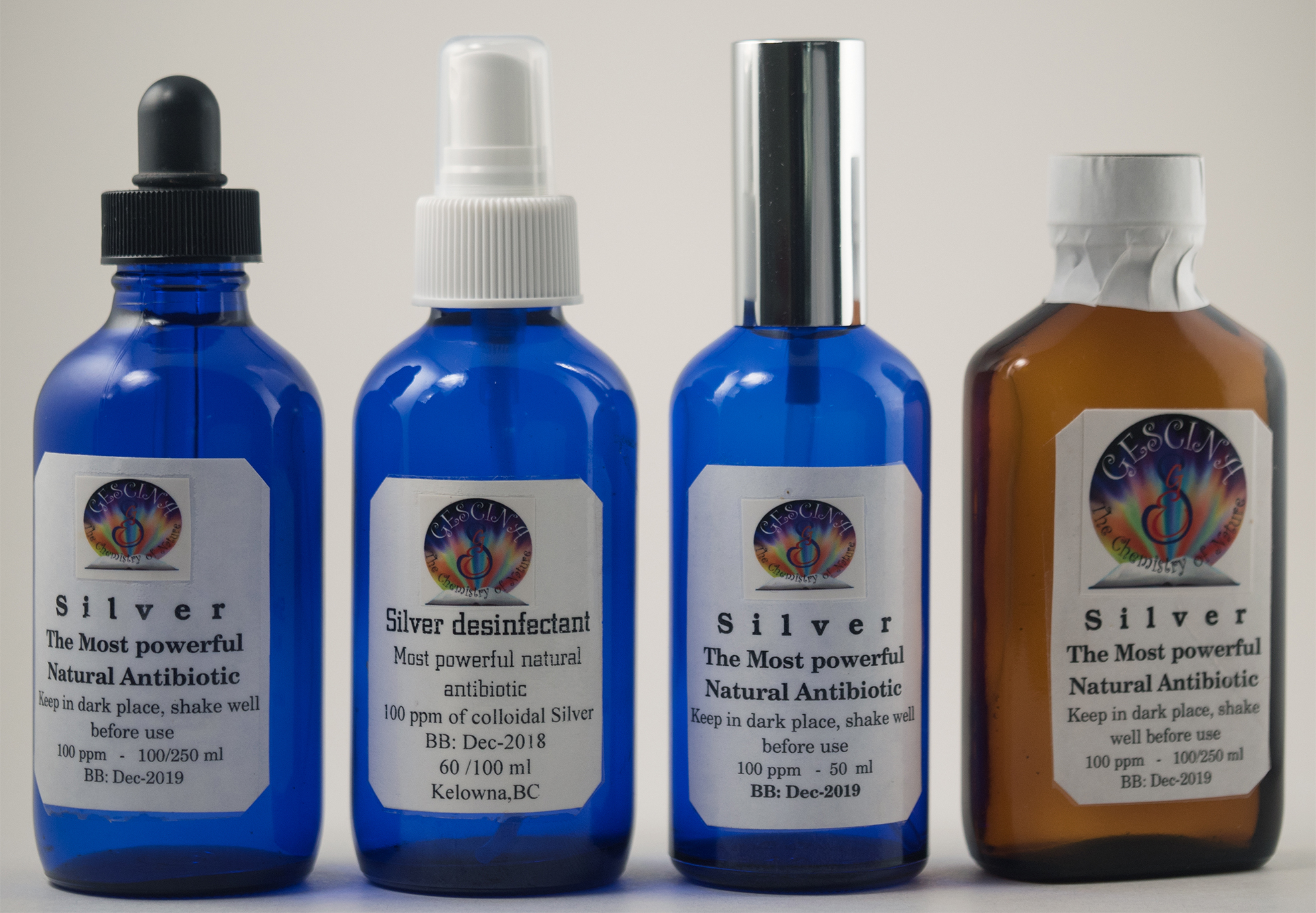 Colloidal Silver | Gescina The Chemistry of Nature Inc
